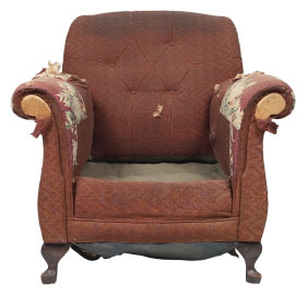 Furniture Medic of Calgary Upholstery and Leather Furniture Repairs and Restoration Before